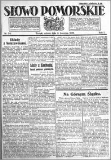 Słowo Pomorskie 1921.04.02 R.1 nr 74