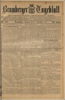 Bromberger Tageblatt. J. 36, 1912, nr 278