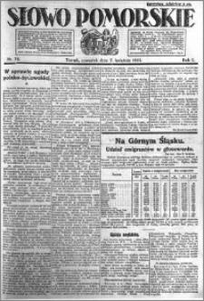 Słowo Pomorskie 1921.04.07 R.1 nr 78
