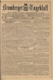 Bromberger Tageblatt. J. 37, 1913, nr 61