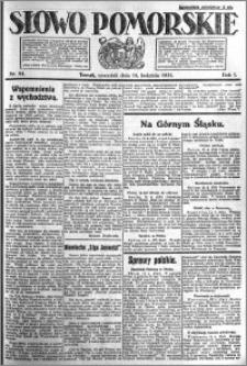 Słowo Pomorskie 1921.04.14 R.1 nr 84