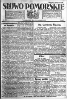 Słowo Pomorskie 1921.04.15 R.1 nr 85
