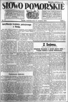 Słowo Pomorskie 1921.04.17 R.1 nr 87