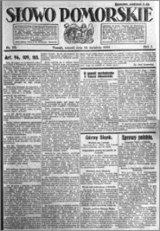 Słowo Pomorskie 1921.04.19 R.1 nr 88
