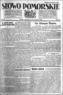 Słowo Pomorskie 1921.04.22 R.1 nr 91