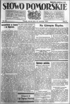 Słowo Pomorskie 1921.04.23 R.1 nr 92