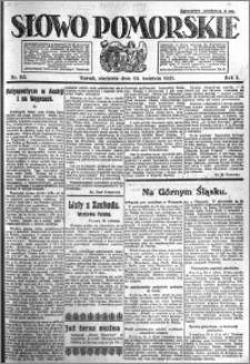 Słowo Pomorskie 1921.04.24 R.1 nr 93