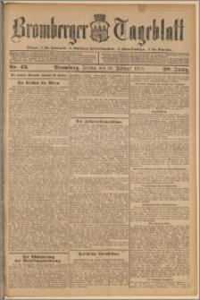 Bromberger Tageblatt. J. 38, 1914, nr 43