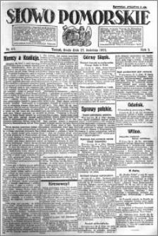 Słowo Pomorskie 1921.04.27 R.1 nr 95