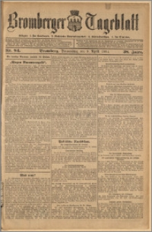 Bromberger Tageblatt. J. 38, 1914, nr 84