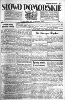 Słowo Pomorskie 1921.04.29 R.1 nr 97