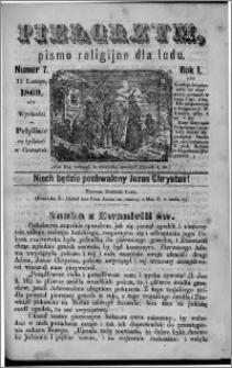 Pielgrzym, pismo religijne dla ludu 1869 rok I nr 7