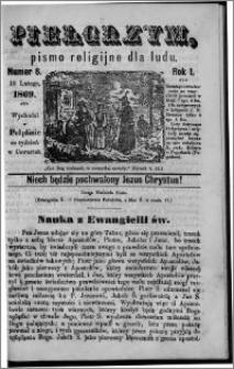 Pielgrzym, pismo religijne dla ludu 1869 rok I nr 8