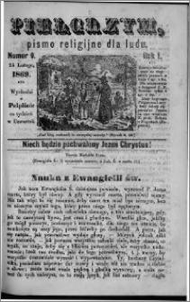 Pielgrzym, pismo religijne dla ludu 1869 rok I nr 9