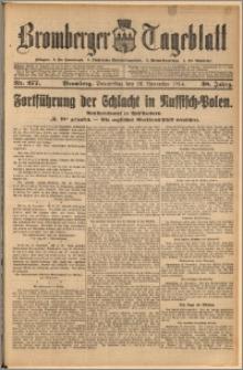 Bromberger Tageblatt. J. 38, 1914, nr 277