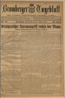 Bromberger Tageblatt. J. 40, 1916, nr 94