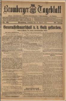 Bromberger Tageblatt. J. 40, 1916, nr 96