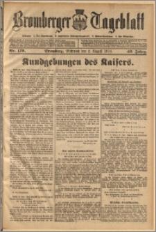 Bromberger Tageblatt. J. 40, 1916, nr 179
