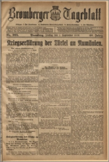 Bromberger Tageblatt. J. 40, 1916, nr 205