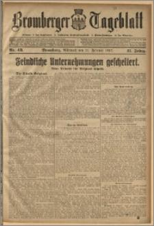 Bromberger Tageblatt. J. 41, 1917, nr 43