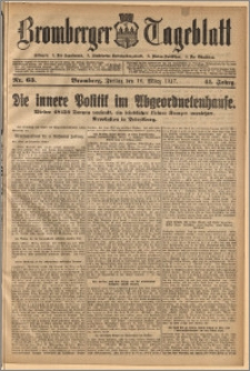 Bromberger Tageblatt. J. 41, 1917, nr 63