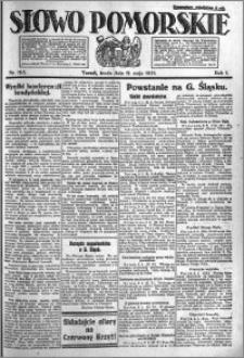 Słowo Pomorskie 1921.05.11 R.1 nr 105