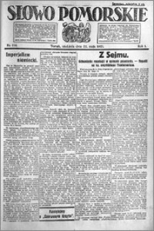 Słowo Pomorskie 1921.05.22 R.1 nr 114