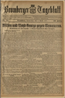 Bromberger Tageblatt. J. 43, 1919, nr 79