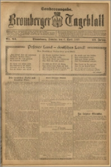 Bromberger Tageblatt. J. 43, 1919, nr 82 Wydanie specjalne