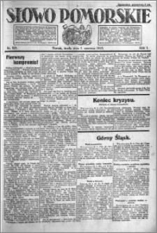 Słowo Pomorskie 1921.06.01 R.1 nr 121