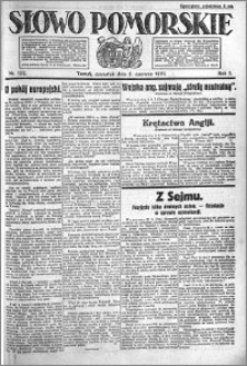 Słowo Pomorskie 1921.06.02 R.1 nr 122