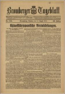 Bromberger Tageblatt. J. 43, 1919, nr 185