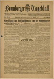 Bromberger Tageblatt. J. 43, 1919, nr 196