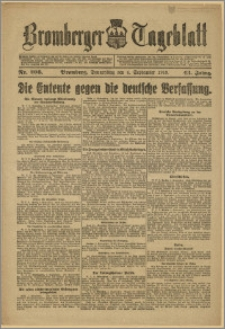 Bromberger Tageblatt. J. 43, 1919, nr 206