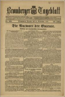 Bromberger Tageblatt. J. 43, 1919, nr 215