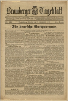 Bromberger Tageblatt. J. 43, 1919, nr 221