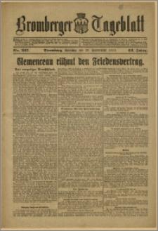 Bromberger Tageblatt. J. 43, 1919, nr 227