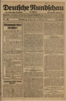 Deutsche Rundschau in Polen. J. 45, 1921, nr 39