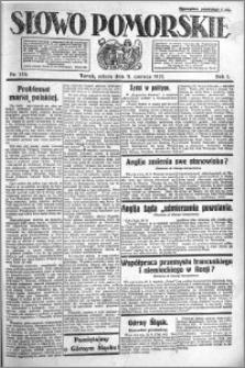 Słowo Pomorskie 1921.06.11 R.1 nr 130