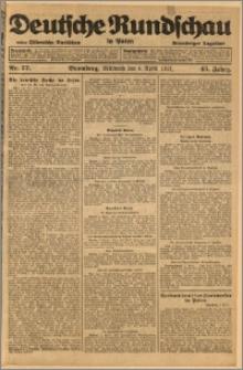 Deutsche Rundschau in Polen. J. 45, 1921, nr 77
