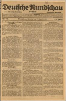 Deutsche Rundschau in Polen. J. 45, 1921, nr 87