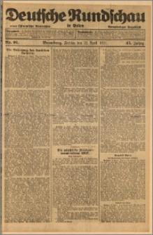 Deutsche Rundschau in Polen. J. 45, 1921, nr 91