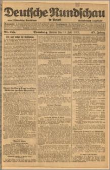 Deutsche Rundschau in Polen. J. 45, 1921, nr 155