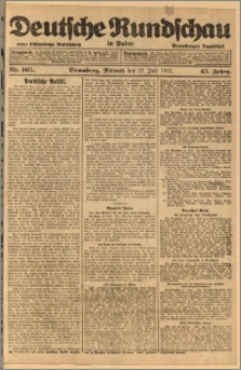 Deutsche Rundschau in Polen. J. 45, 1921, nr 165