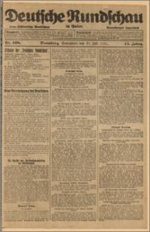 Deutsche Rundschau in Polen. J. 45, 1921, nr 168