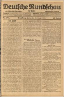 Deutsche Rundschau in Polen. J. 45, 1921, nr 184