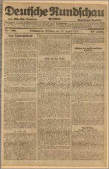 Deutsche Rundschau in Polen. J. 45, 1921, nr 188