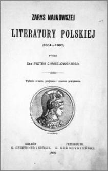 Zarys najnowszej literatury polskiej, (1864-1897)