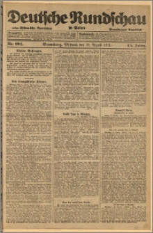 Deutsche Rundschau in Polen. J. 45, 1921, nr 194