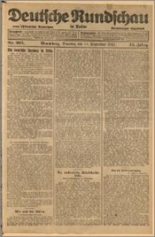 Deutsche Rundschau in Polen. J. 45, 1921, nr 205